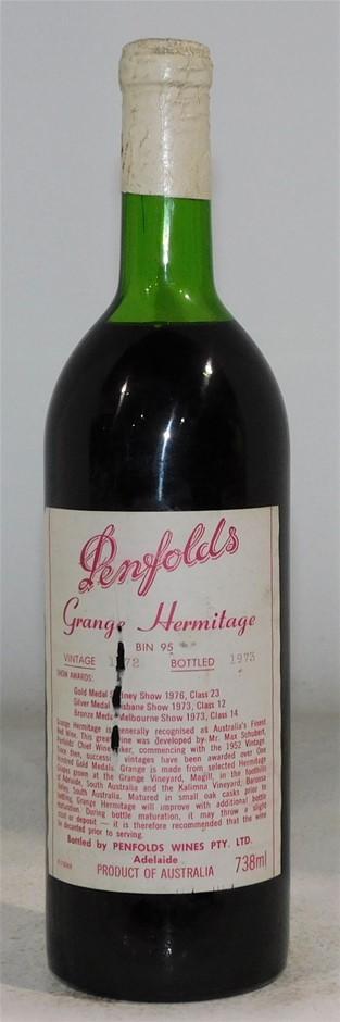Penfolds Bin 95 Grange Hermitage 1972 (1x 750mL) SA.