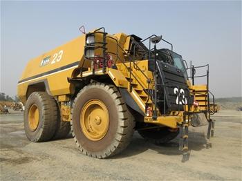 Caterpillar 777F, 777D & 773D Dump Trucks and Water Carts