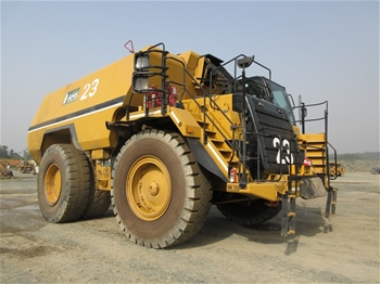 Caterpillar 777F, 777D & 773D Dump Trucks and Water Carts