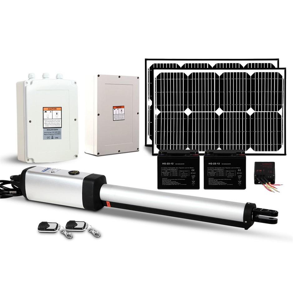 LockMaster Swing Gate Opener 40w Auto Solar Electric Remote Control 600KG