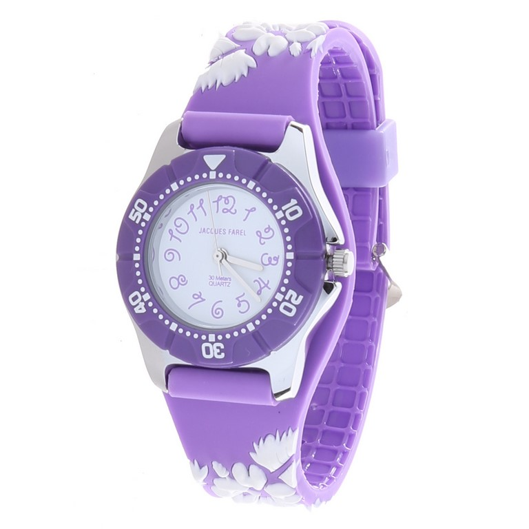 JACQUES FAREL Girl`s Stainless Steel Watch Crown Quartz Japanese Movement,