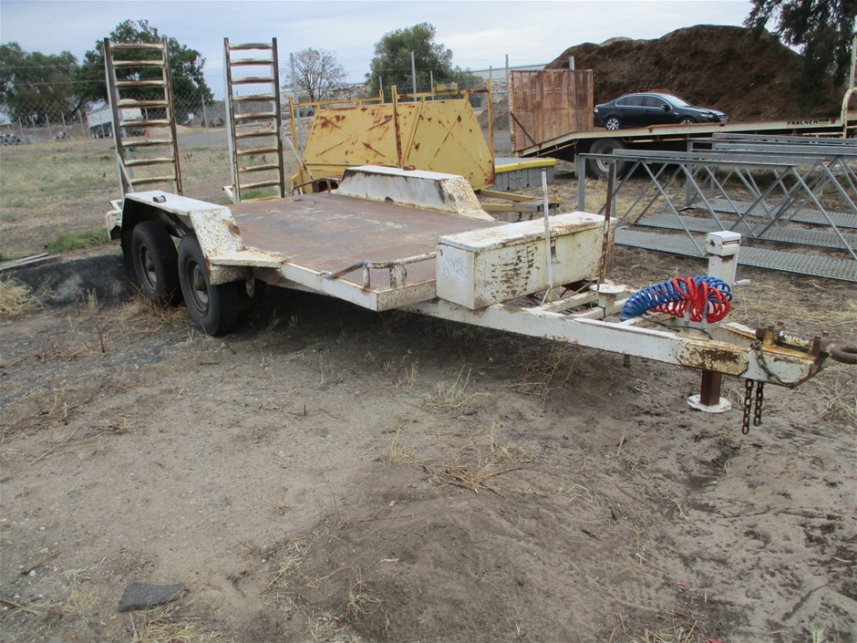 2008 K and Gibbs Eng 15X6 Gibs Tandem Plant Trailer