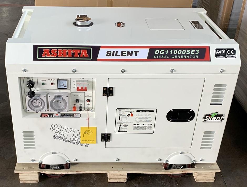 Unused Ashita DG11000SE3 Silent Generator