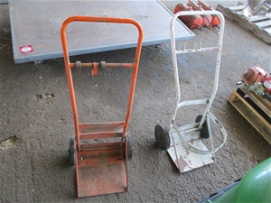 2 x Gas Bottle Trolleys