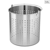 SOGA 50L 18/10 Stainless Steel Stockpot Basket Pasta Strainer with Handle