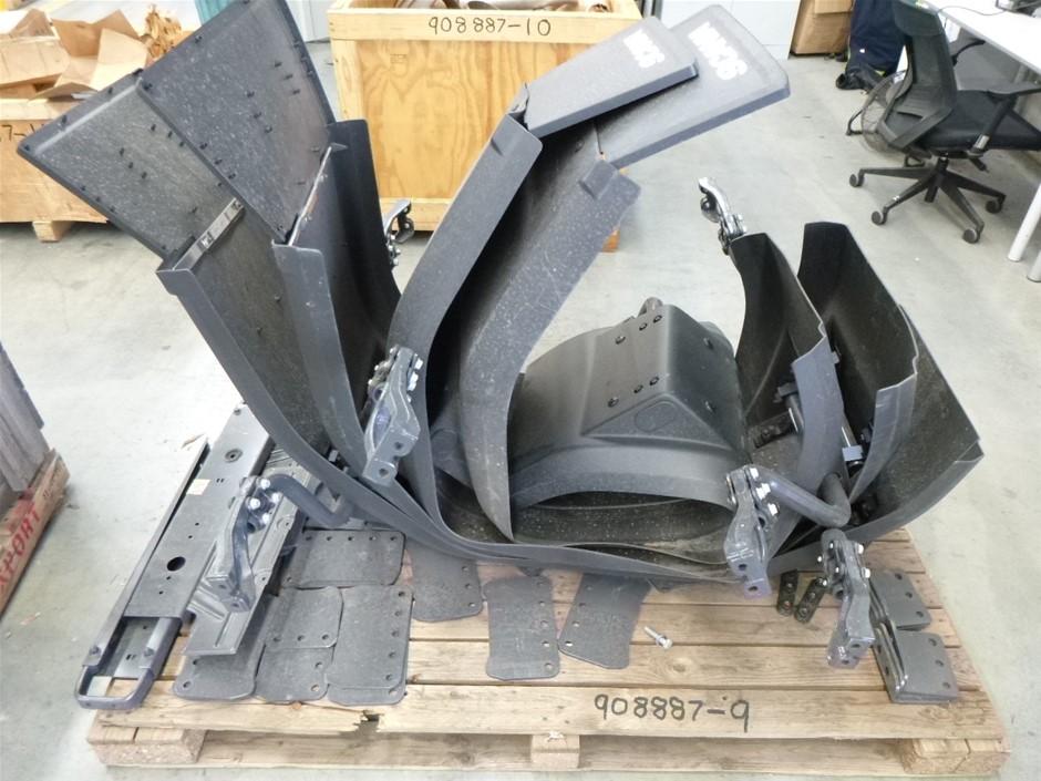 4 x Scania Mud Flaps & Brackets