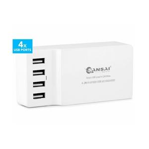 Sansai 4.2A 4-Ports USB Charging Station