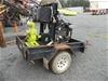 <B>Allflo Skid Mounted 4`` Diesel Powered Mobile Water Pump</B> <li>Pump: