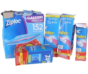 114 x ZIPLOC Freezer Gallon 266 Storage