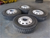 Truck Tyres with Rims (Quantity 4)