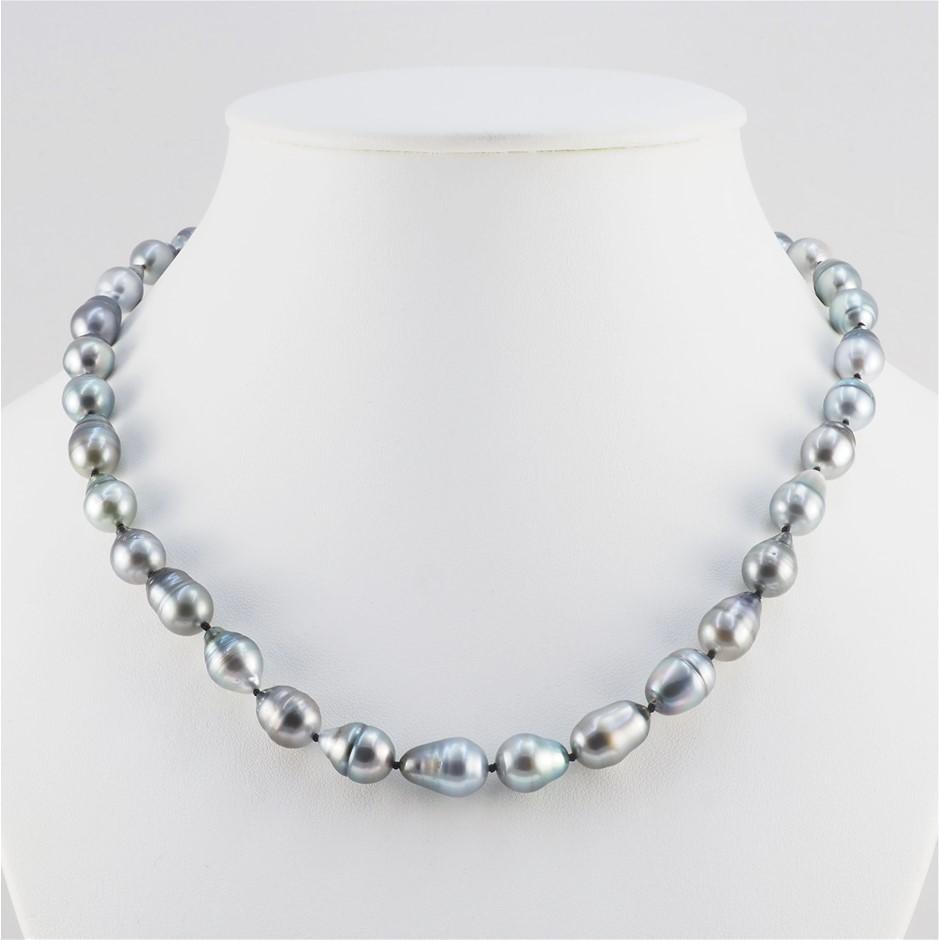 Single Strand Tahitian Pearl Graduated Necklace