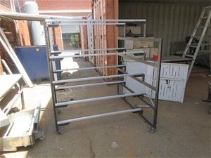 Steel Rack on Caster Wheels
