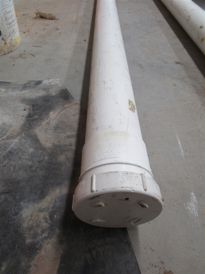 Length of PVC Pipe with Cap Ends