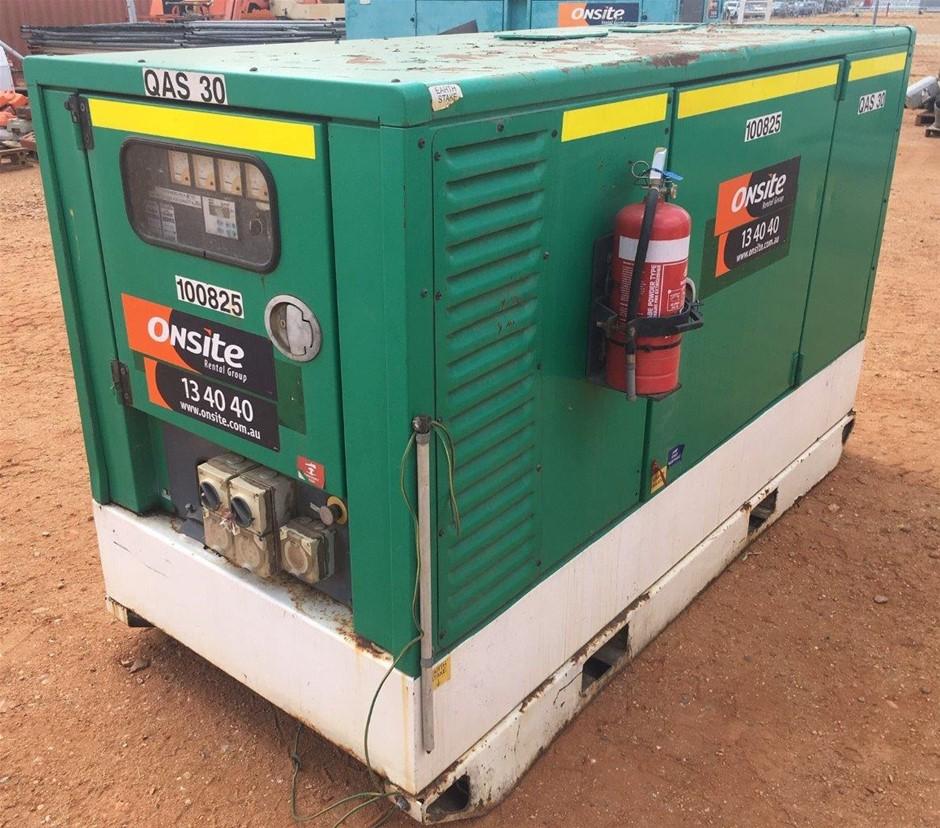 2007 Atlas Copco QAS30 30kVA Diesel Generator - Emerald