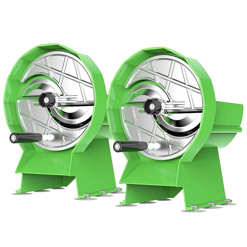 SOGA 2X Commercial Manual Vegetable Fruit Slicer Cutter Machine Green