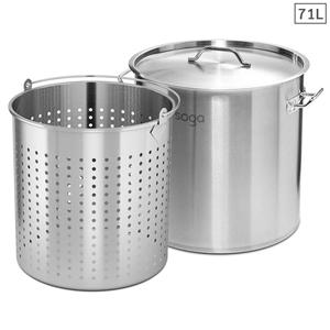 SOGA 71L 18/10 Stainless Steel Stockpot