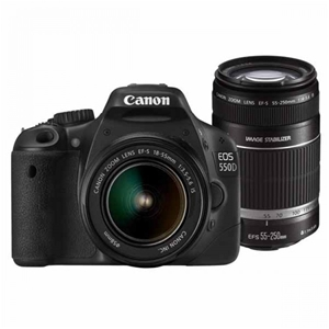 Canon EOS 550D 18.0MP DSLR Camera with 5
