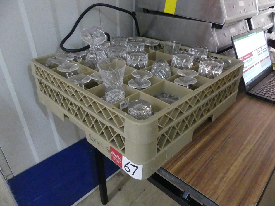 Dishwasher Tray with Glasses