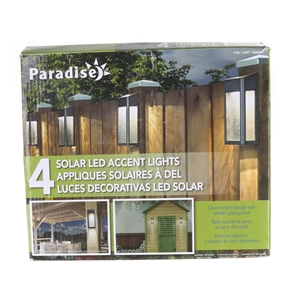 4 x PARADISE Solar LED Accent Lights wit