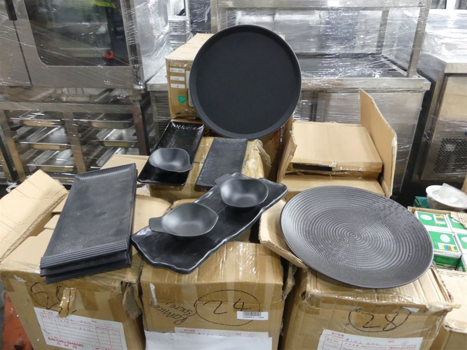 Qty Pallet x Restaurant Table and Serving Items