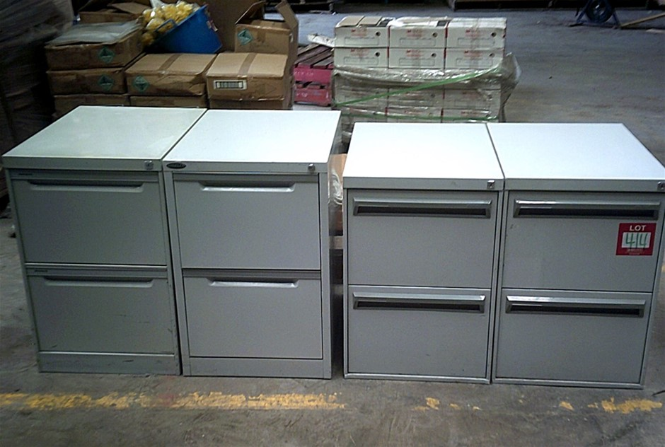 4 units of Grey 2 Drawer mixed filing cabinets