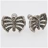 Sterling Silver Marcasite screw back earrings