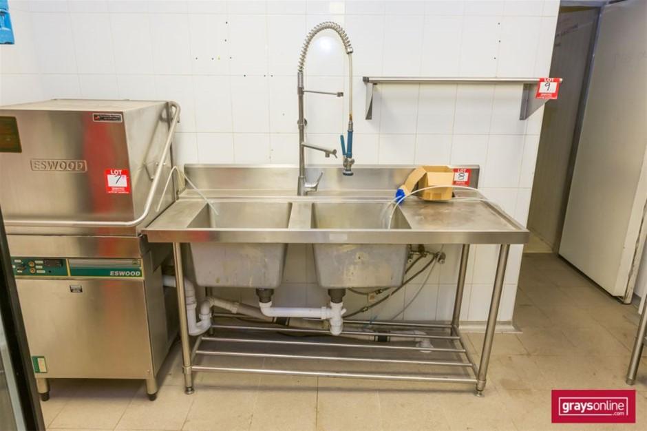 Commercial Twin Deep Bowl Sink unit (Freestanding)
