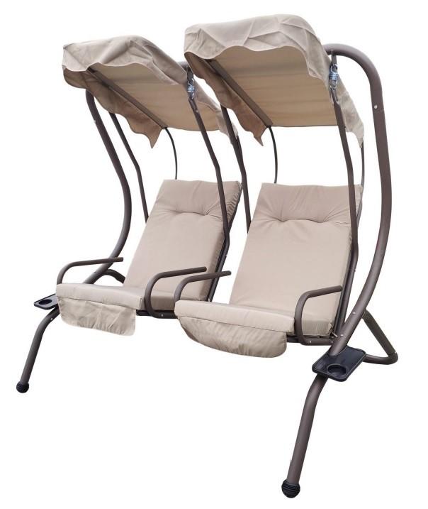4 Seasons Luxury Design Metal 2 Separate Swing Chairs Hammock