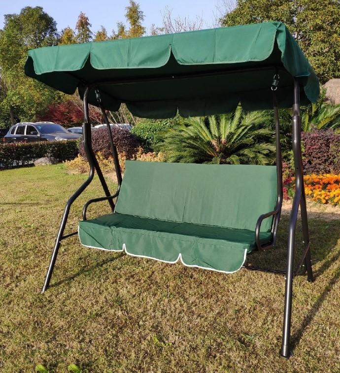 4 Seasons 3 Seater Curved Metal Swing Wide Chair Hammock