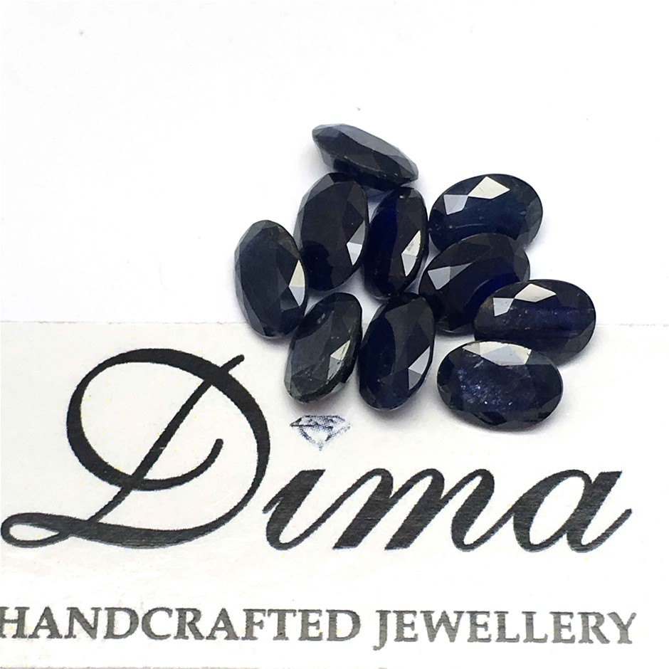 Ten Loose Blue Sapphire, 10.19ct in Total