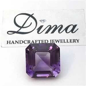 One Stone Amethyst Emerald, 8.98ct in To