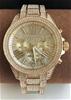 New Michael Kors 'Wren' Gold Plated  gemstone stunning watch