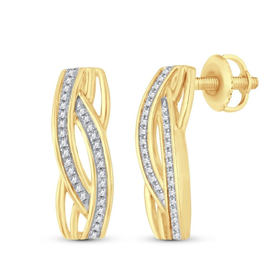 9ct Yellow Gold, 0.11ct Diamond Earring