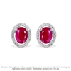 9ct White Gold, 5.06ct Ruby and Diamond Earring