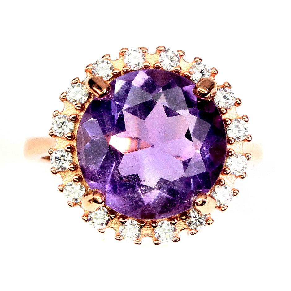 Spectacular Genuine Amethyst Statement Ring.