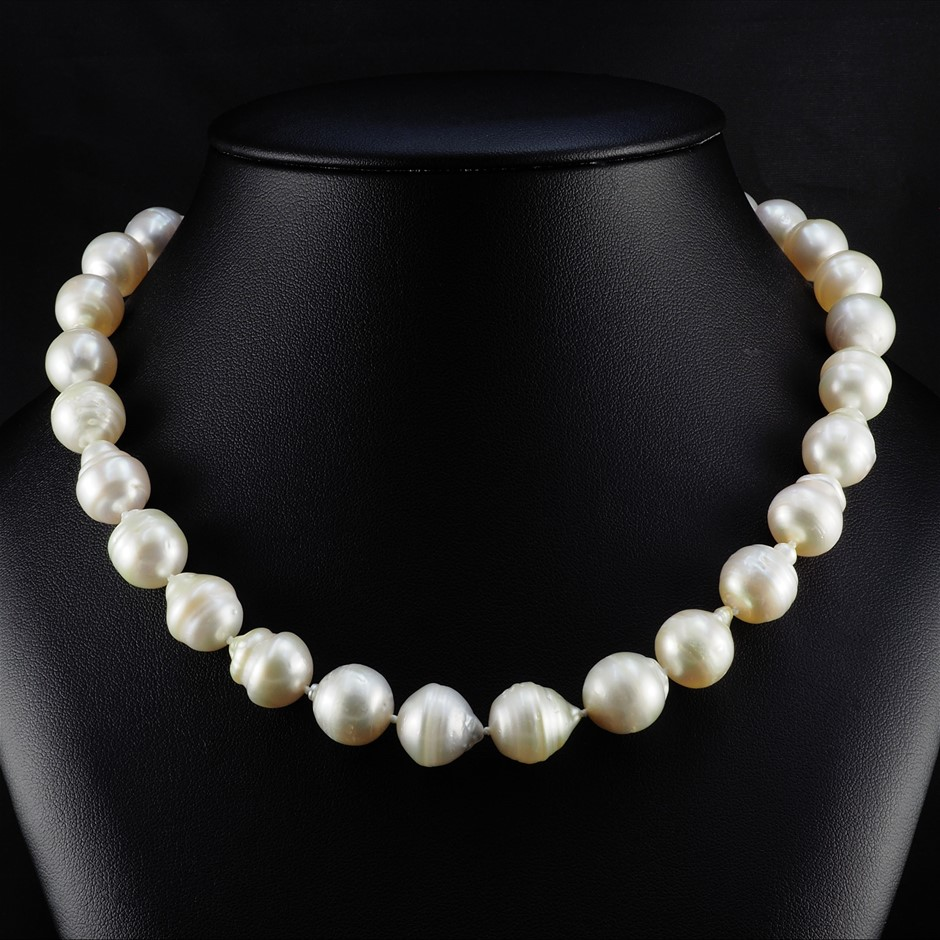 Single Strand Graduated South Sea Pearl Graduated Necklace