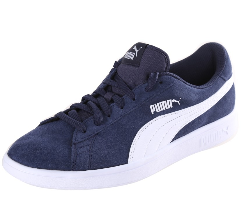 PUMA Smash V2 Men`s Sport Shoes, Size UK 11, Leather Upper, Soft Foam Inner