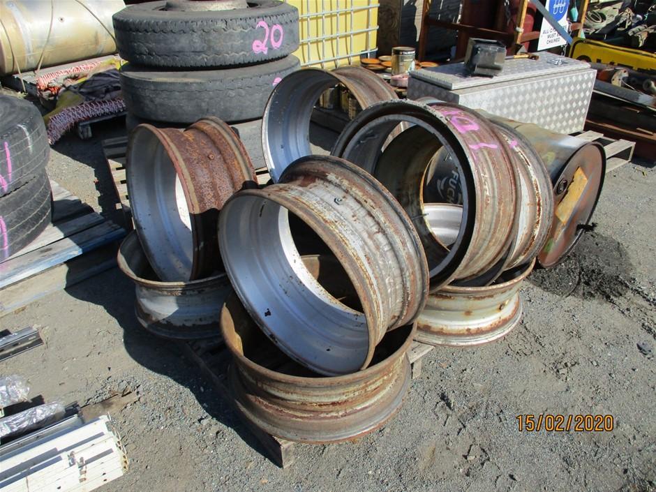 9 x Steel Truck Rims