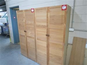 Quantity 2x 2-Door Timber Storage Cabine