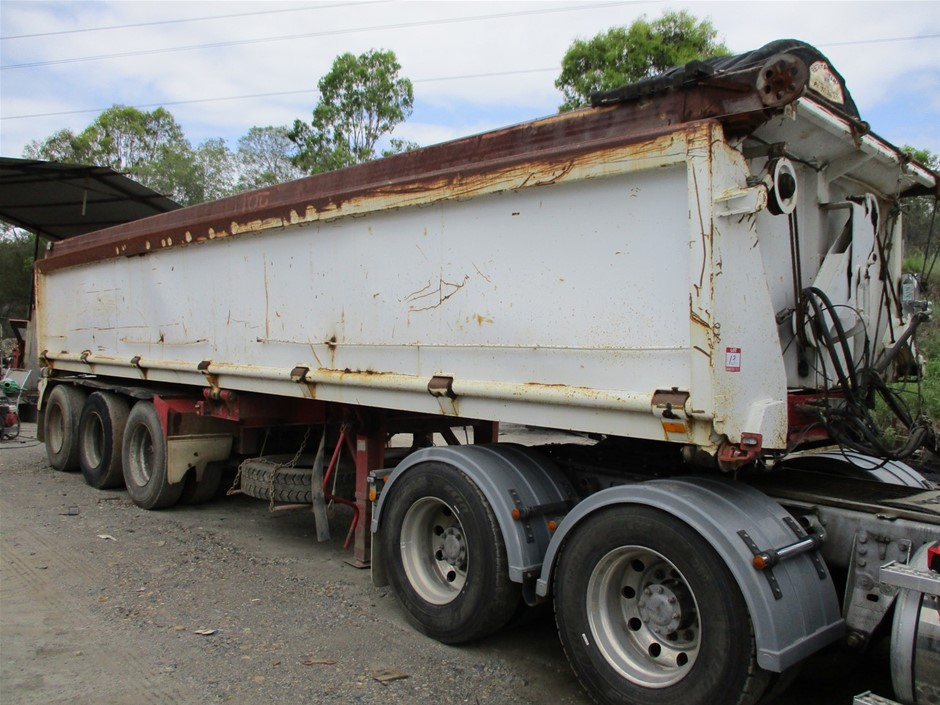 1996 Boomerang Triaxle Side Tipper Trailer