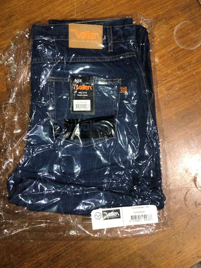 1 x Pair Heavy Duty Work Jeans, Size: 87R, Brand: Vallen