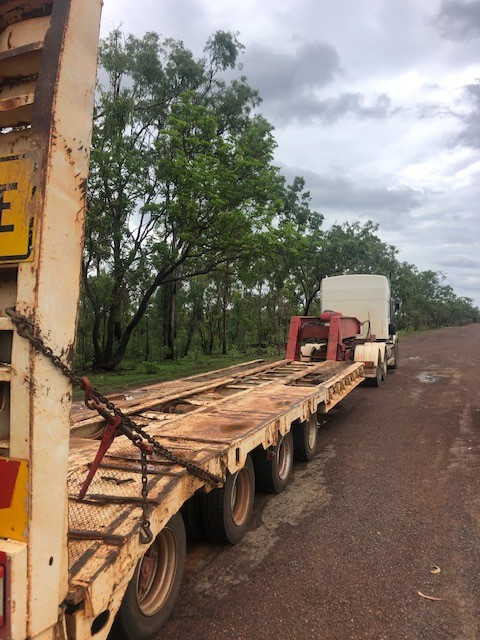 1981 Freighter Lowloader Widening Quadaxle Low Loader