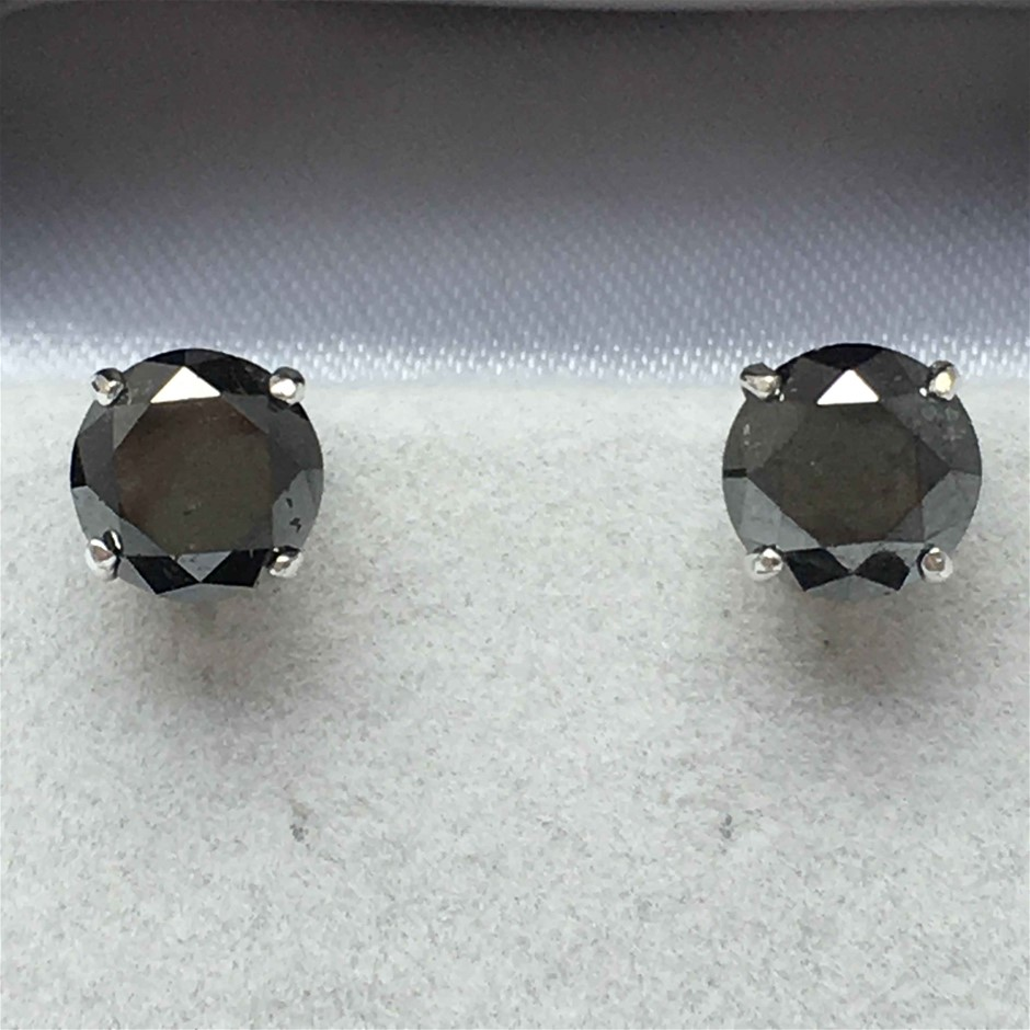 18ct White Gold, 3.30ct Diamond Earring