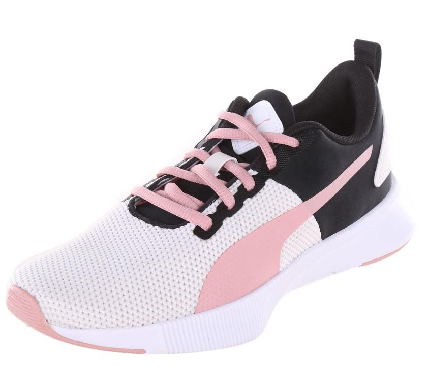 PUMA Women`s Flyer Runner Shoes, Size UK 5, Pastel Parchment/Pink/Black & W