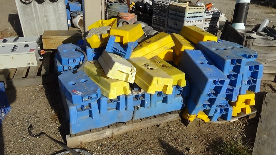 Qty 2 pallets of temporary fencing bases