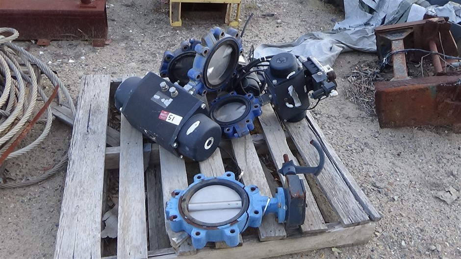 Qty 4 Butterfly Valves