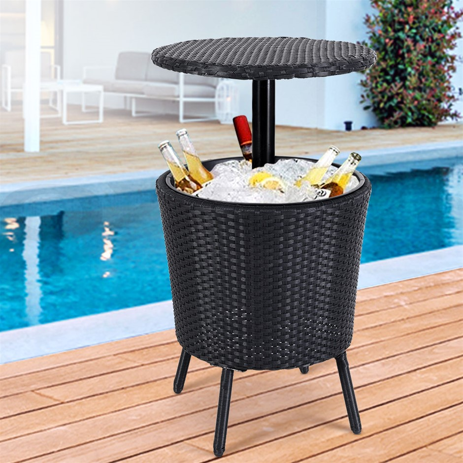 Gardeon Bar Table Outdoor Setting Cooler Ice Storage Box Patio Coffee Pool