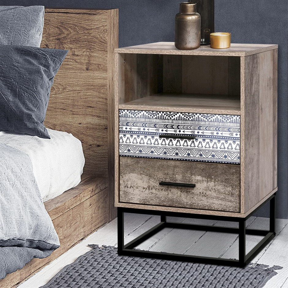 Artiss Bedside Tables Drawers Table Wood Nightstand Storage Cabinet Unit