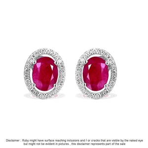 9ct White Gold, 5.06ct Ruby and Diamond