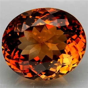 11.7Ct. Top Imperial Topaz Brazil Oval F